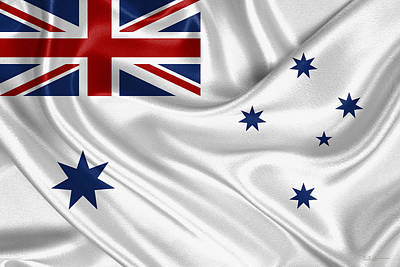Digital Art - Royal Australian Navy -  R A N  Ensign by Serge Averbukh