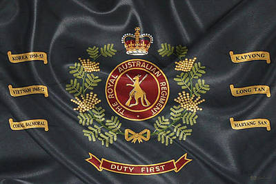 Digital Art - Royal Australian Regiment   -  R A R  Regimental Colours by Serge Averbukh
