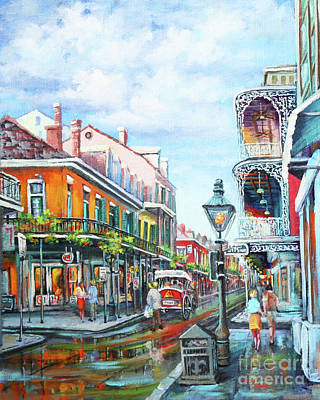 Lamppost Painting - Royal Balconies by Dianne Parks