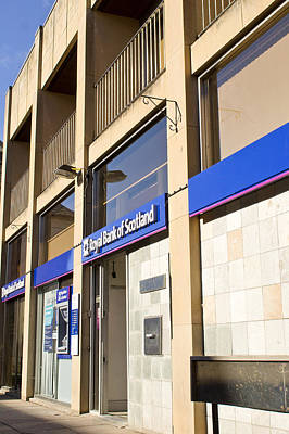 Lender Photograph - Royal Bank Of Scotland by Tom Gowanlock