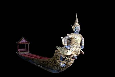 Procession Digital Art - Royal Barge On Black by Gregory Smith