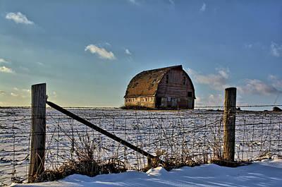 Photograph - Royal Barn Fenceline by Bonfire Photography