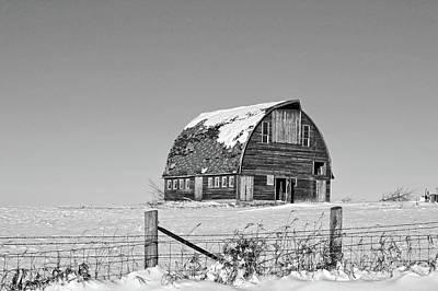 Photograph - Royal Barn Winter Bnw by Bonfire Photography