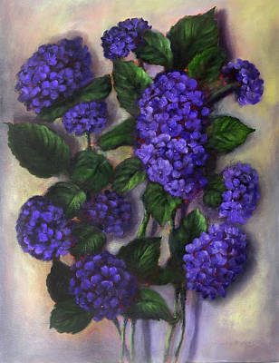 Painting - Royal Blue Hydrangea by Randy Burns