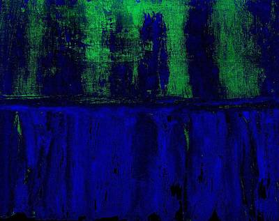 Print Like Painting - Royal Blue by Marsha Heiken