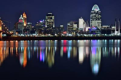 Photograph - Royal Blue Night In The Queen City by Frozen in Time Fine Art Photography