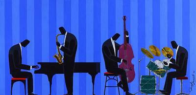 Painting - Royal Blues Quartet by Darryl Daniels