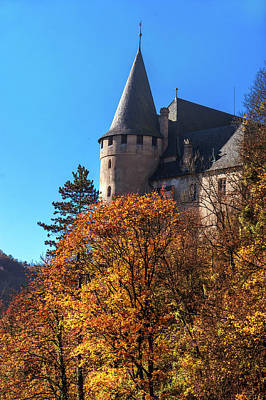 Photograph - Royal Castle Karlstejn In Autumn Time by Jenny Rainbow