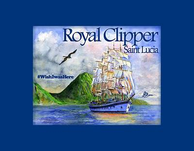 Painting - Royal Clipper St Lucia Shirt by John D Benson