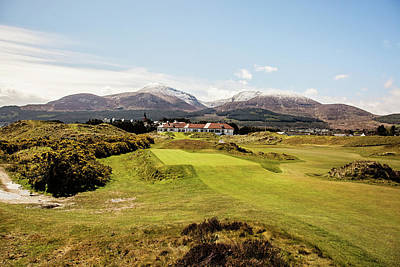 Royal County Down Clubhouse View Art Print by Scott Pellegrin