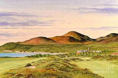 Golf Art Painting - Royal County Down Golf Course by Bill Holkham