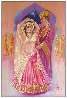 Appreciate Drawing - Royal Courtship by Kalpana Talpade Ranadive