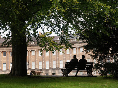 Photograph - Royal Crescent Silhouette by Jeremy Voisey