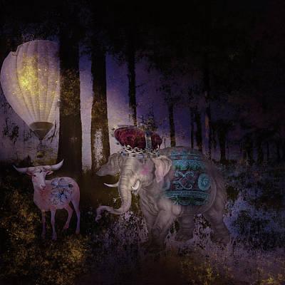 Digital Art - Royal Elephant Adventure by Sue Masterson