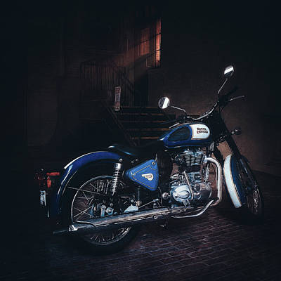 Achieving Royalty Free Images - Royal Enfield Royalty-Free Image by Scott Norris
