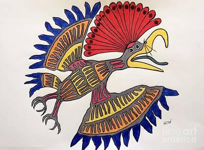 Royal Flycatcher- Mayan 2 Original