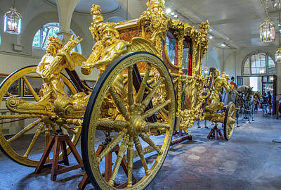 Photograph - Royal Gold State Coach, England by Venetia Featherstone-Witty