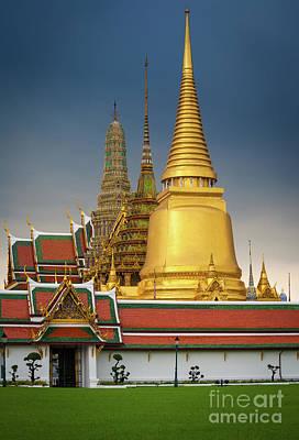Buddhist Photograph - Royal Grand Palace Entrance by Inge Johnsson