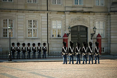 Photograph - Royal Guards Amalienborg Palace Denmark by Mary Lee Dereske