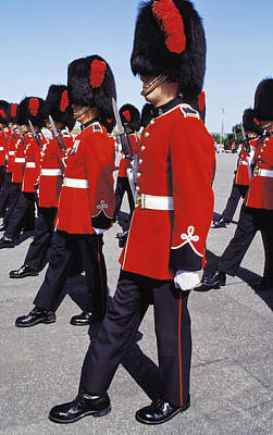 Art Print featuring the photograph Royal Guards In Ottawa by Carl Purcell