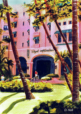 Royal Hawaiian Hotel On Waikiki Beach #131 Art Print by Donald k Hall