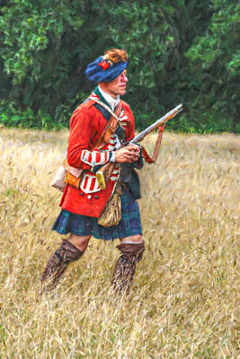 Royal Highlanders 77th Regiment Of Foot  Art Print by Randy Steele