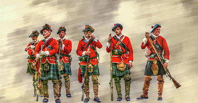Historical Digital Art - Royal Highlanders Review by Randy Steele