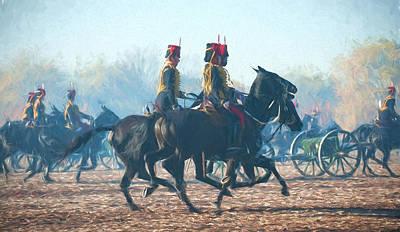 Hyde Park Digital Art - Royal Horse Artillery Painted by Roy Pedersen