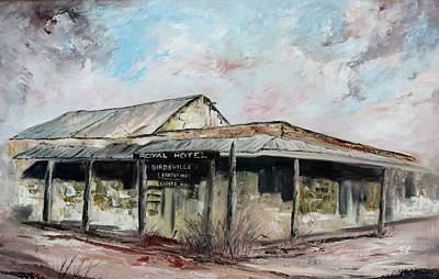 Royal Hotel, Birdsville Art Print