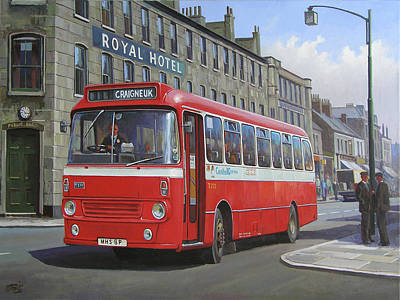 Art Print featuring the painting Royal Hotel by Mike Jeffries