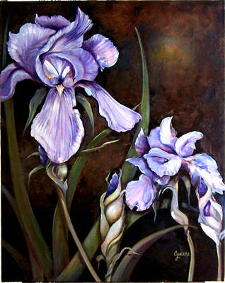 Painting - Royal Iris Dawn by Cynara Shelton