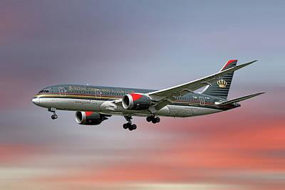 Mixed Media - Royal Jordanian Boeing 787-8 Dreamliner by Smart Aviation