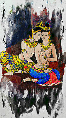 Painting - Royal Lovers Of Siam  by Ian Gledhill