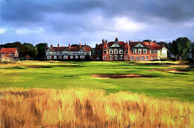 Scott Melby Painting - Royal Lytham St. Annes Golf Club by Scott Melby