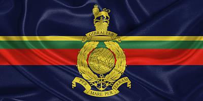 Digital Art - Royal Marines -  R M  Flag by Serge Averbukh