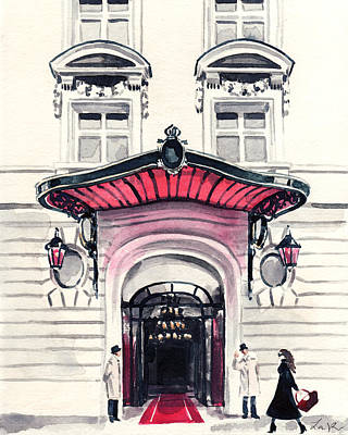 Limestone Painting - Royal Monceau Hotel Paris by Laura Row