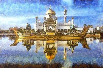 Royal Mosque  Art Print