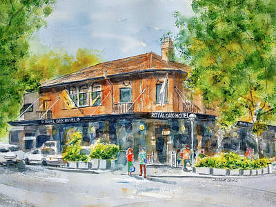 Painting - Royal Oak Hotel by Debbie Lewis
