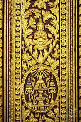Photograph - Royal Palace Gilded Door 01 by Rick Piper Photography