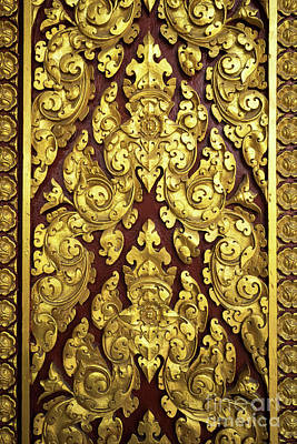 Photograph - Royal Palace Gilded Door 02 by Rick Piper Photography