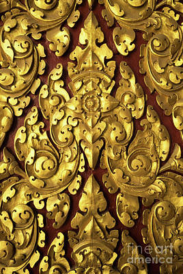 Photograph - Royal Palace Gilded Door 03 by Rick Piper Photography