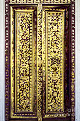 Photograph - Royal Palace Gilded Doors by Rick Piper Photography