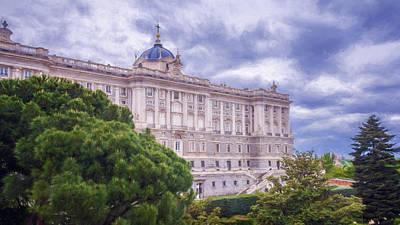 Watercolor Butterflies - Royal Palace Madrid II by Joan Carroll