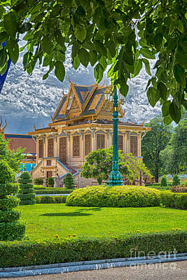 Photograph - Royal Palace Phnom Penh Cambodia Hdr12 by Rene Triay Photography