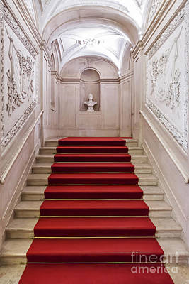 Castle Photograph - Royal Palace Staircase by Jose Elias - Sofia Pereira