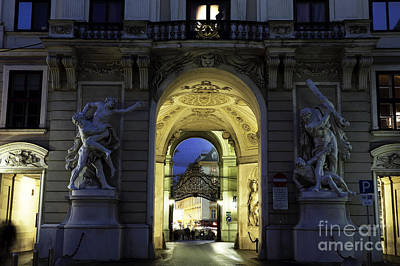 Lights In Tunnel Photograph - Royal Passage In Vienna by John Rizzuto