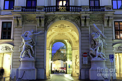 Photograph - Royal Passage Lights In Vienna by John Rizzuto
