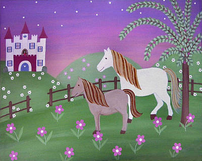 Fairy Painting - Royal Pastures by Samantha Shirley