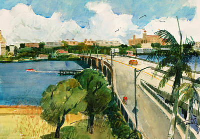 Photograph - Royal Poinciana Bridge by Thomas Tribby