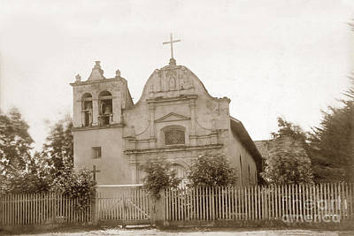 Photograph - Royal Presidio Chapel, Monterey  Circa 1887  by California Views Mr Pat Hathaway Archives